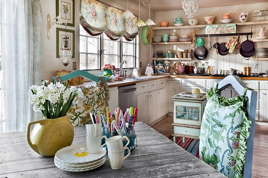 0-shabby-chic-style-interior-design-kitchen-aged-wooden-table-white-cabinets-open-racks-chair-cushions-flower-vases-chandeliers-sconces