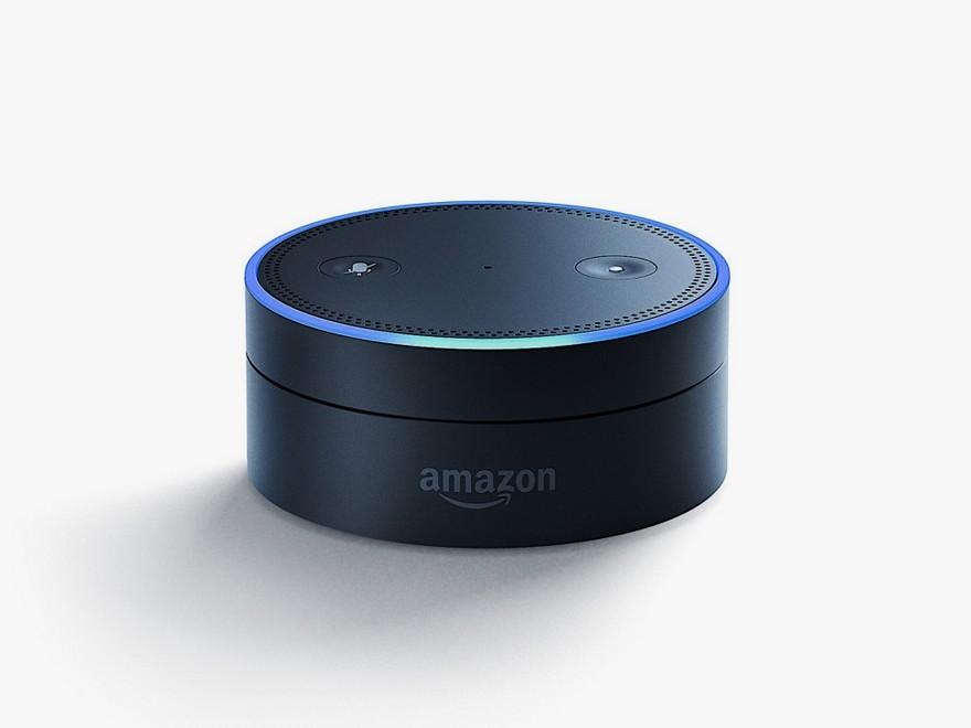 1-2-Amazon-Echo-Dot-smart-speaker-smart-home-device-sound-gadget-hockey-puck-shaped-small-compact-black-low-flat