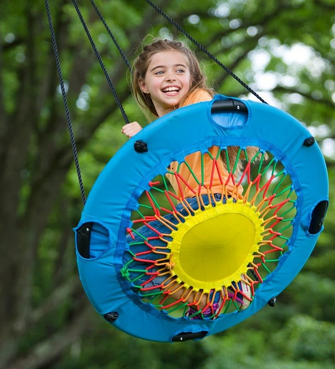 1-3-beautiful-garden-swing-blue-seat-ropes-girl-happy-smiling-laughing-swinging