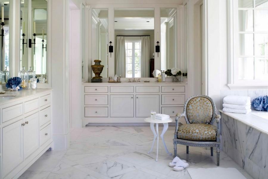 1-French-style-bathroom-interior-design-ideas-light-pastel-colors-romantic-wash-basin-vanity-unit-bathtub-white-wooden-furniture-elegant-arm-chair-marble-floor