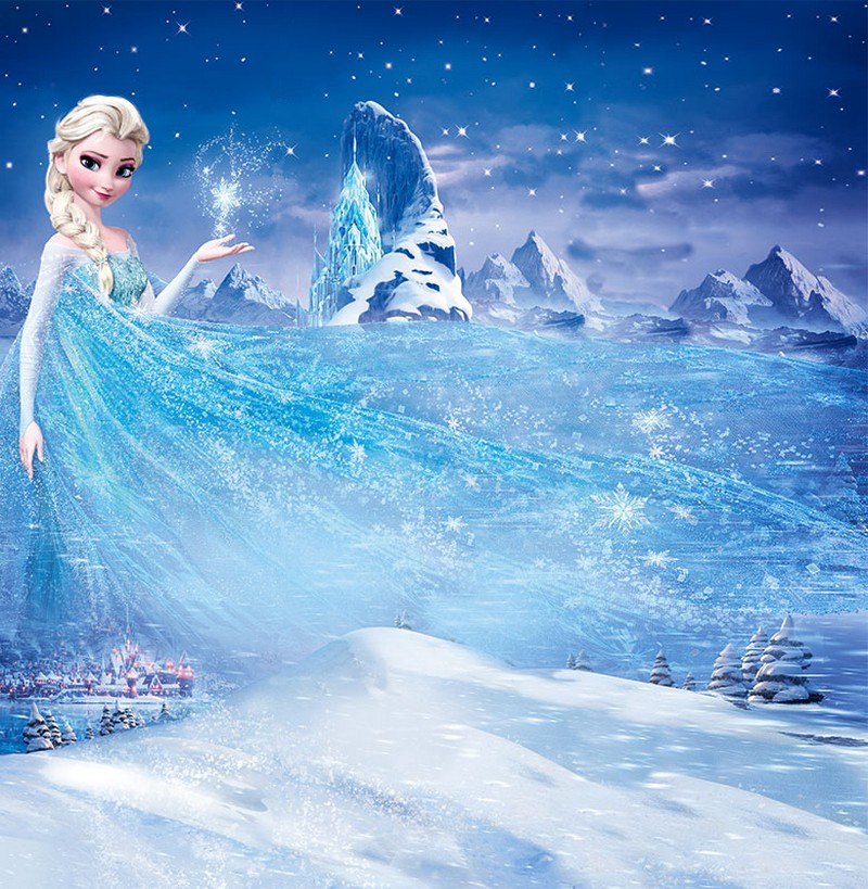 1-white-blue-wall-covering-for-kid's-girl's-room-bedroom-inspired-by-Frozen-cartoon-movie-film-princess-Elsa-wall-mural-wallpaper-fresco