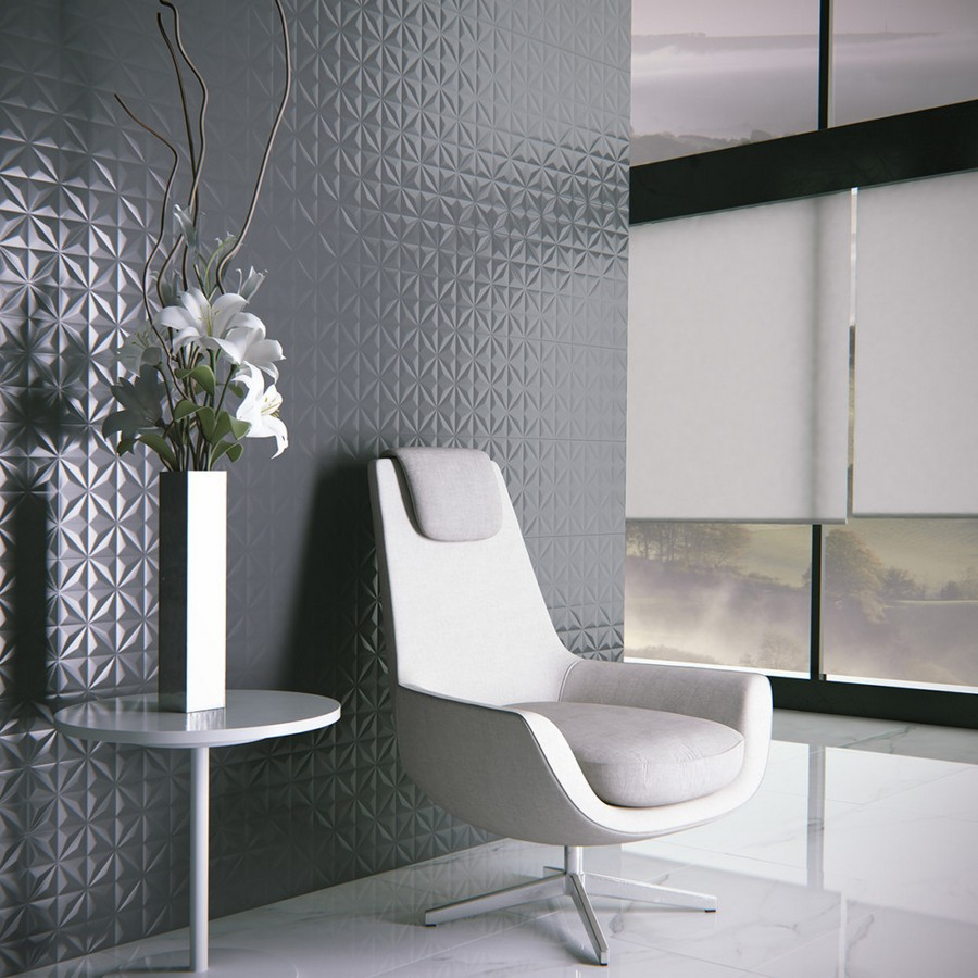10-1-ceramic-tiles-in-interior-design-Zirconio-brand-collection-2017-black-glossy-3D-wall-effect-tiles-lounge