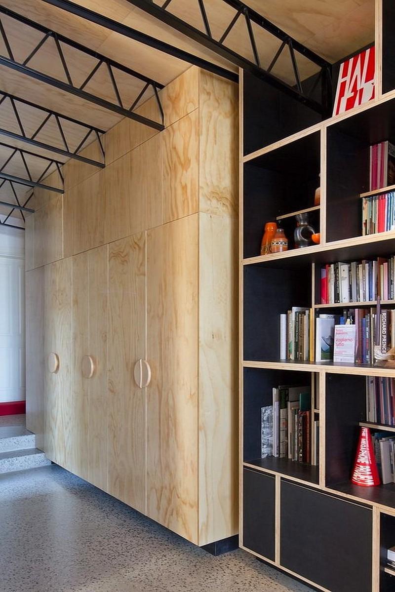 10-veneer-furniture-light-closet-doors-cabinets-shelves-TV-metal-ceiling-decor-gray-polished-concrete-floor