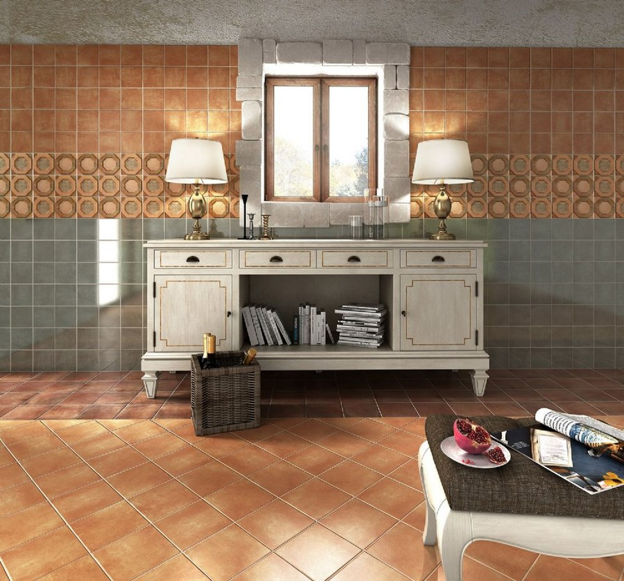 12-8-ceramic-tiles-in-interior-design-Cas-Ceramica-brand-collection-2017-beige-and-gray-vintage-style-bathroom-wall-floor-wooden-console-cabinets-aged-table-lamps-window-above