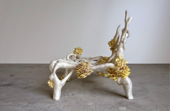 2-1-3D-printed-furniture-made-on-3D-printer-arm-chair-eco-design-by-Eric-Klarenbeek-Dutch-Netherlands-living-chair-mushrooms-bioplastic-mycelium