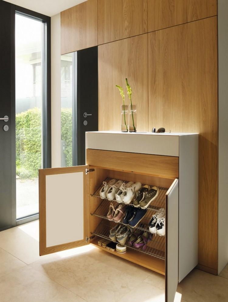 2-1-hallway-entry-room-entrance-hall-mudroom-interior-design-shoe-storage-ideas-cabinet-wire-shelves-racks-light-wood-white-shallow-drawer