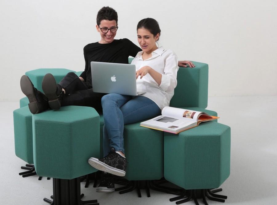 2-2-lift-bit-Italy-Vitra-Carlo-Ratti-design-modular-smart-seat-sofa-remote-digitally-transformable-controlled-furniture-upholstered-hexagonal-geometric