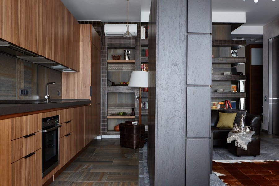 2-3-contemporary-style-interior-design-open-concept-living-room-kitchen-gray-modular-parquet-walnut-furniture-wenge-tiles-black-partition-faux-wood-cabinets-floor-tiles-backsplash-pust-to-open