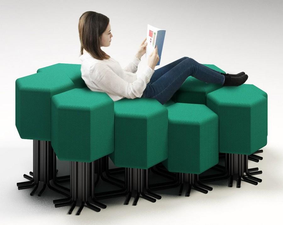 2-3-lift-bit-Italy-Vitra-Carlo-Ratti-design-modular-smart-seat-sofa-remote-digitally-transformable-controlled-furniture-upholstered-hexagonal-geometric