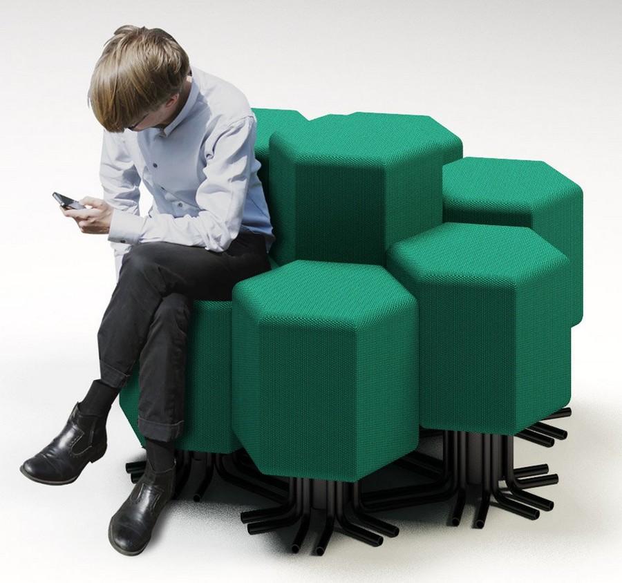 2-4-lift-bit-Italy-Vitra-Carlo-Ratti-design-modular-smart-seat-sofa-remote-digitally-transformable-controlled-furniture-upholstered-hexagonal-geometric