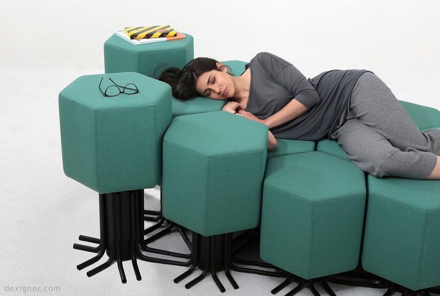 2-6-lift-bit-Italy-Vitra-Carlo-Ratti-design-modular-smart-seat-sofa-remote-digitally-transformable-controlled-furniture-upholstered-hexagonal-geometric