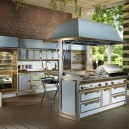 2-Pacific-Light-Blue-kitchen-suite-set-by-Officine-Gullo-Italy-metal-burnished-stainless-steel-cabinets-worktop-brass-trims-island-bar-stools-professional-fry-top-barbecue-cover-double-oven-dish-heater-pizza-rotisserie