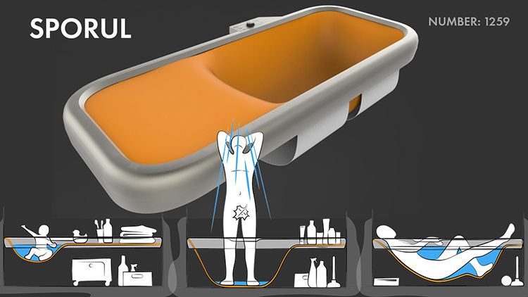 2-innovative-bathroom-design-ideas-solutions-by-young-Russian-designers-One-Day-Design-challenge-contest-by-Roca-Moscow-2017-award-winning-project-Sporul-flexible-bathtub-material-stretching