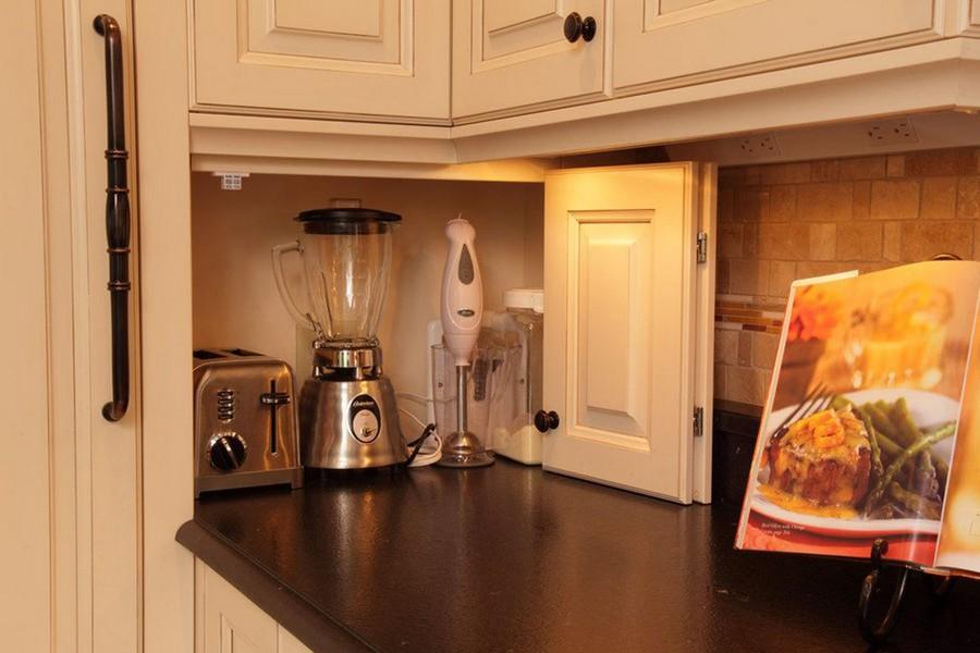 2-kitchen-storage-ideas-blender-mixer-toaster-electric-appliances-kept-on-worktop-countertop-corner-cabinet-beige-set-book-holder-stand