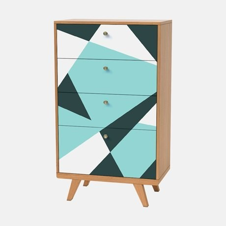 3-1-Thimon-multicolor-chest-of-drawers-tall-4-drawers-black-white-blue-geometrical-pattern