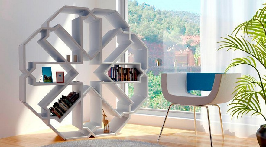 3-1-creative-interesting-non-standard-furniture-design-shelving-unit-shalf-stand-snowflake-shaped-geometrical-white-inspired-by-Moroccan-mosaic-pattern-big-by-Younes-Duret-Design-Studio_cr