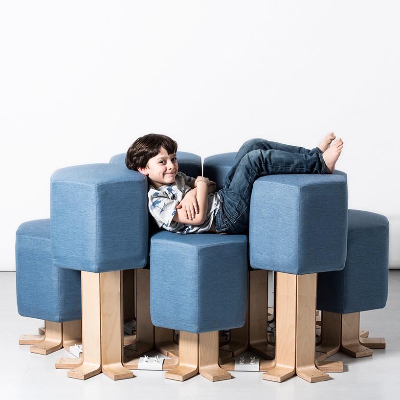 3-1-lift-bit-Italy-Vitra-Carlo-Ratti-design-modular-smart-seat-sofa-remote-digitally-transformable-controlled-furniture-upholstered-hexagonal-geometric