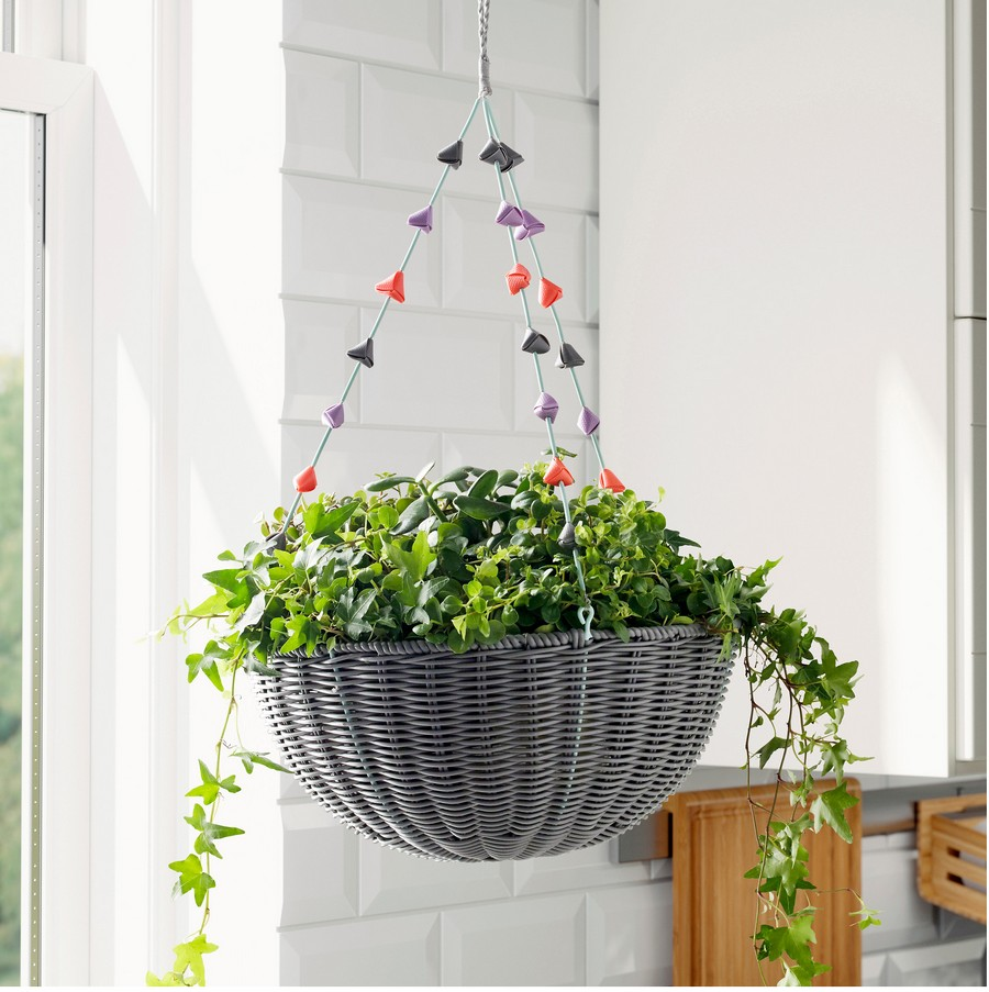 3-ornamental-gray-wicker-hanging-flower-basket-by-IKEA-SOLROSFRO-planter-outdoor-indoor-polyester-pot-design-by-Maria-Vinka