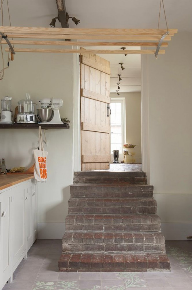 4-old-country-house-interior-design-vintage-style-kitchen-open-racks-appliances-mixer-brick-stairs-aged