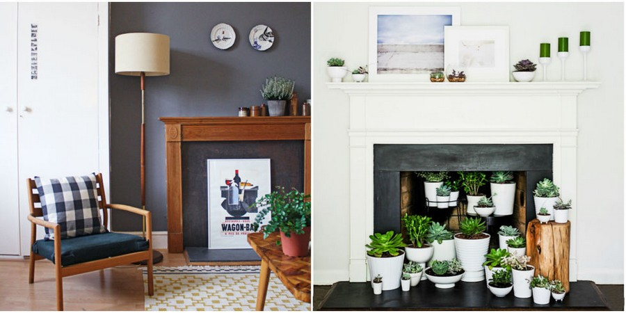 5-4-flower-pots-succulents-display-shelf-mantelpiece-home-garden-indoor-faux-fireplace-ideas