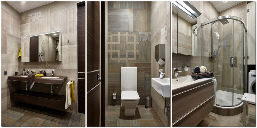 5-contemporary-style-bathroom-interior-design-gray-and-brown-faux-wood-tiles-glass-walk-in-shower-cabin-vanity-unit-rectangular-toilet-double-wash-basin-mirrored-cabinet-laundry