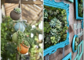 5-creative-garden-decor-ideas-framed-picture-living-wall-art-succulents-compositions-flower-pots