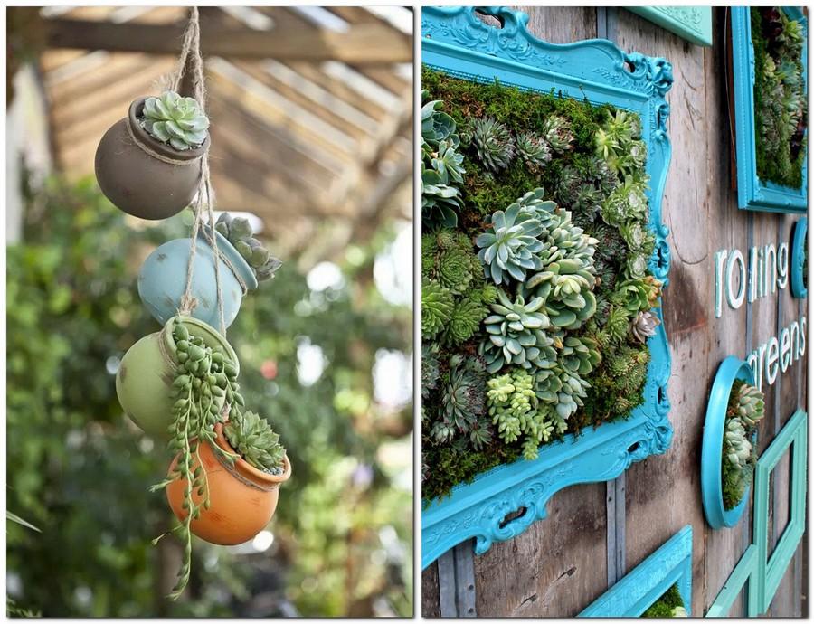 5-creative-garden-decor-ideas-framed-picture-living-wall-art-succulents-compositions-flower-pots