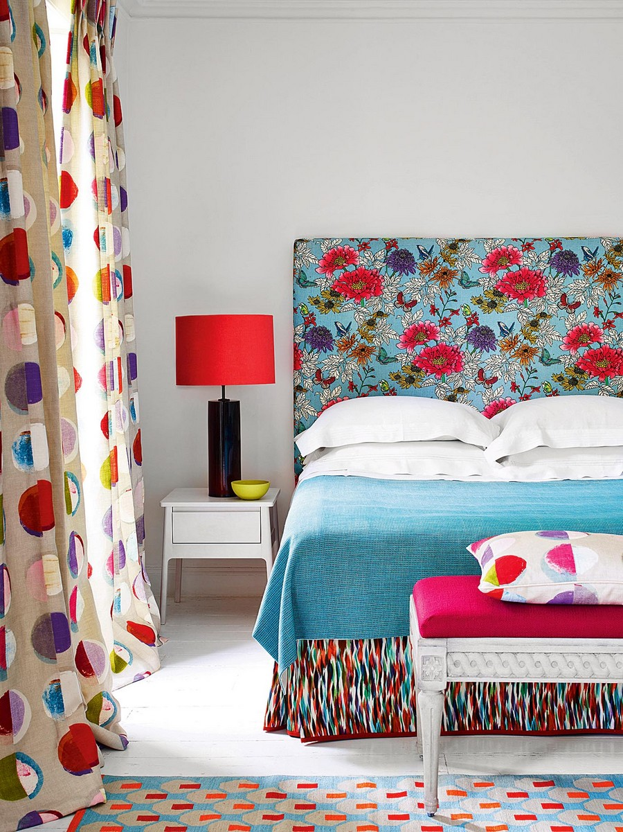 6-2-Headboard-dressed-up-with-Tamarinda-fabric-with-floral-print-by-Jane-Churhcill-beautiful-home-textile-decor-accessories-summer-2017