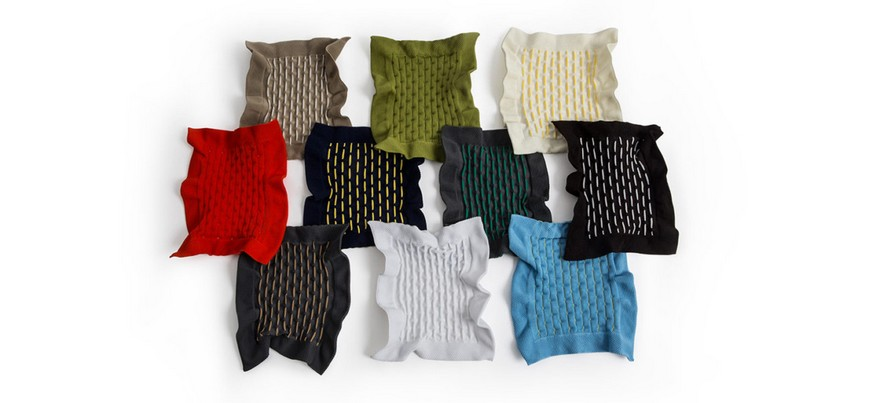 6-Cradle-Moroso-design-by-Benjamin-Hubert-innovative-net-upholstery-fabric-stretchy-colors-red-white-black-beige-blue-green-gray