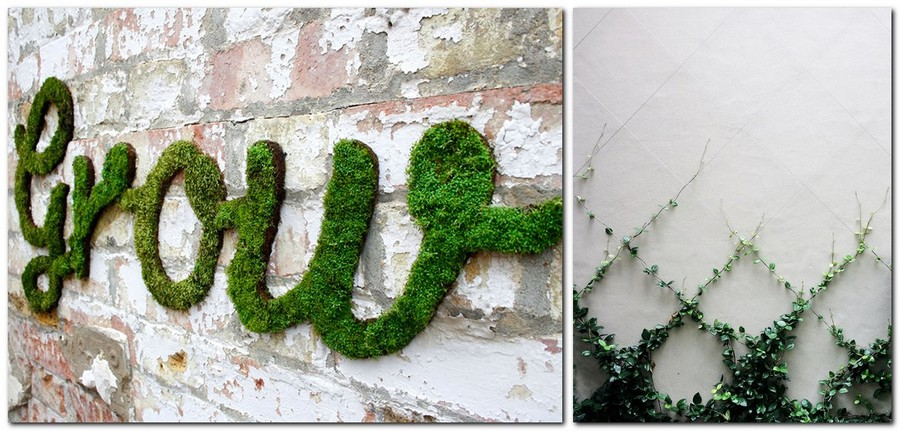 6-creative-garden-decor-ideas-ivy-wall-decor-moss-wall-composition-words