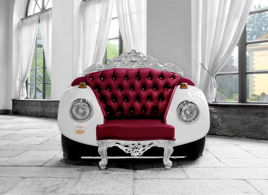 7-2-creative-interesting-non-standard-furniture-design-baroque-classical-eclectic-style-arm-chair-retro-beetle-volkswagen-vw-car-shaped-red-leather-white-arm-rests