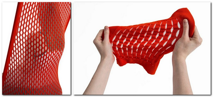 7-Cradle-Moroso-design-by-Benjamin-Hubert-minimalistic-minimalist-style-furniture-red-arm-chair-innovative-net-upholstery-fabric-stretchy-ergonomical-flexible-backrest