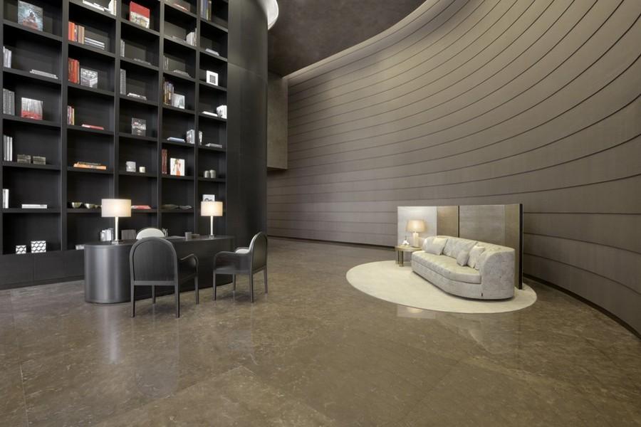 2-2-Armani-Casa-luxurious-interior-design-living-room-concept-home-library-floor-to-ceiling-bookshelves-shelving-unit-beige-sofa-table-lamp-desk