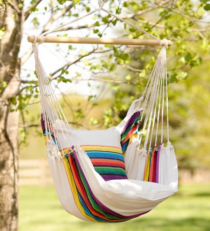 3-beautiful-garden-swing-fabric-multicolor-striped-white-cushion-throw-pillow-hammock-style-English