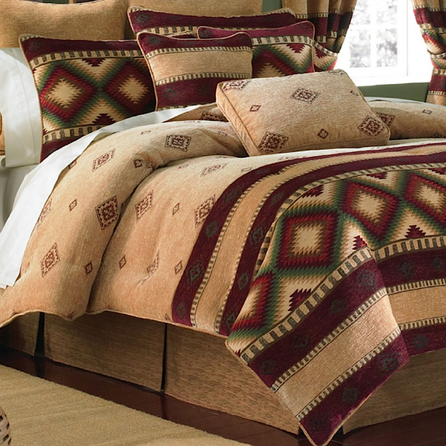 5-bedding-bed-cover-bedspread-throw-pillows-in-American-style
