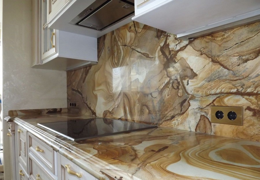 5-original-creative-kitchen-backsplash-ideas-in-interior-design-gray-natural-stone-classical-style-white-cabinets-beige