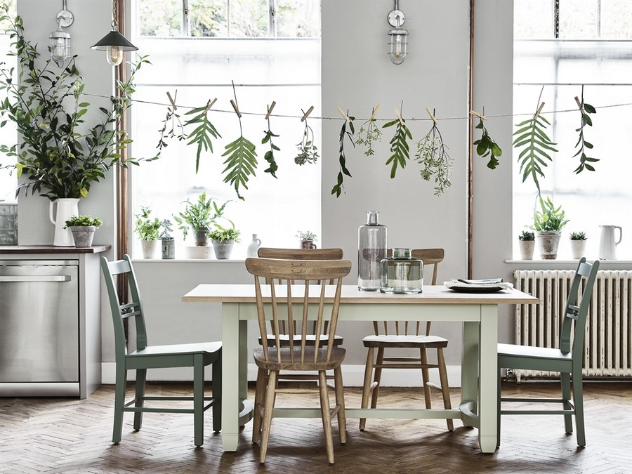 8-dining-room-area-interior-design-ideas-Neptun-chairs-wooden-traditional-style-table-farmhouse-country-style-herringbone-floor-pattern