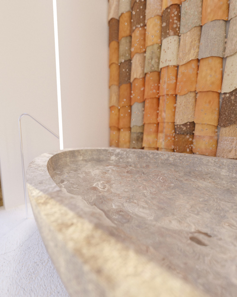 9-Mojito-Club-Holiday-Residence-apartment-hotel-room-Bulgaria-eco-style-interior-design -with-ethnic-motifs-bathroom-tiling-wall-ceramic-bathtub-bath-by-Boffi-oval-free-standing
