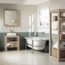 0-clean-neat-tidy-bathroom-interior-design-gray-and-white-wall-tiles-light-floor-bathtub-WC-light-wood-shelving-unit-mirror-frame-wooden-vanity-unit-rectangular-sink-wash-basin-window