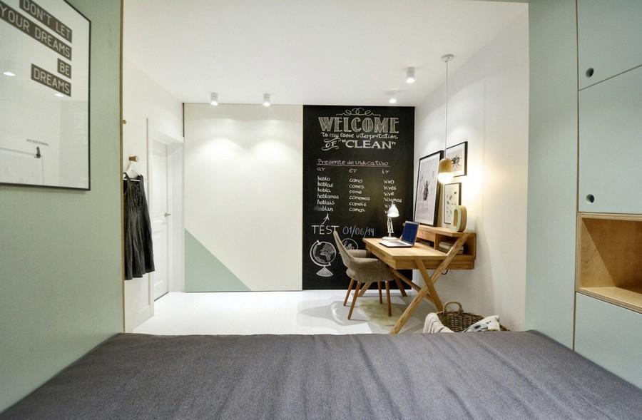 1-1-teenage-girl's-room-bedroom-interior-design-multifunctional-podium-bed-white-walls-plywood-veneer-furniture-gray-accents-sliding-door-blackboard-chalkboard-wall-wiriting-desk-posters