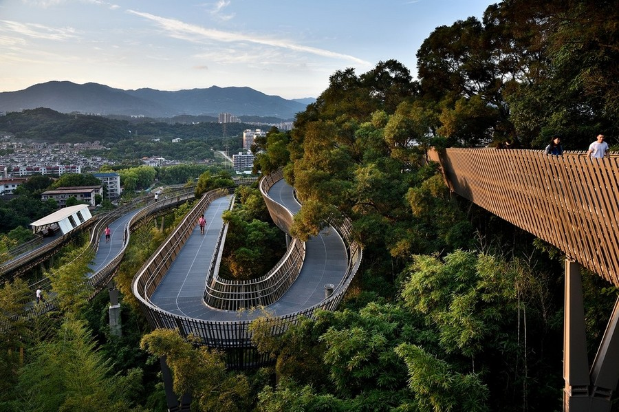 1-high-rise-pedestrian-walkway-pathway-way-in-China-Fuzhou-city-by-LOOK-architects