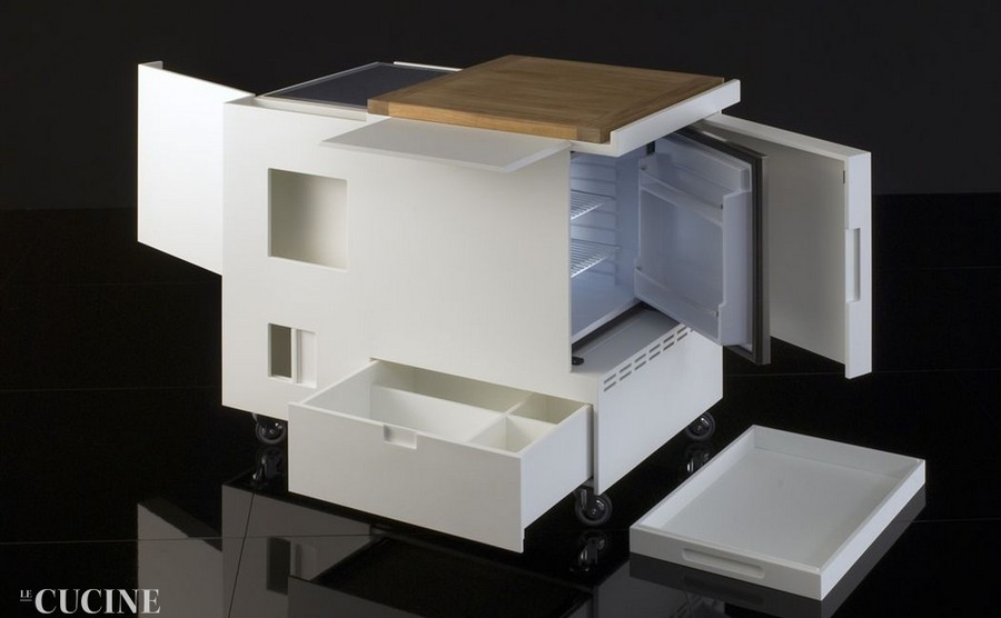1-multifunctional-small-mini-kitchen-set-redesign-by-Boffi-Cucine-Italian-design-by-Joe-Colombo-all-inclusive-trolley-white-corian
