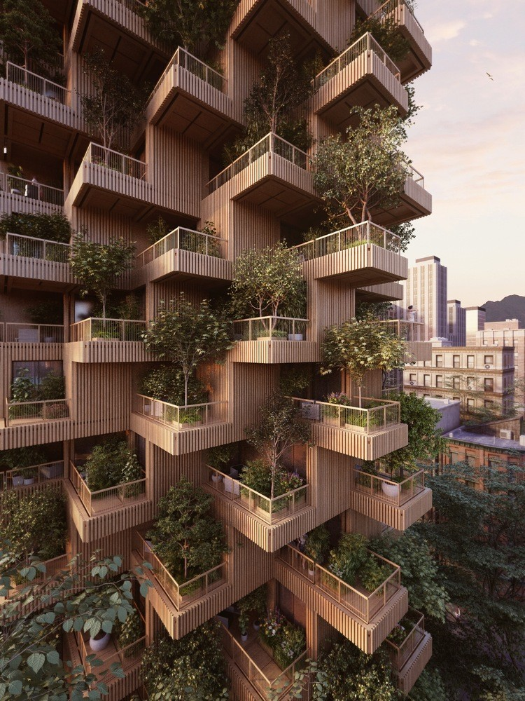 1-wooden-timber-log-house-tower-residential-multi-storey-building-in-Toronto-Canada-by-Penda-Architects-vertical-garden-green-eco-friendly-architecture