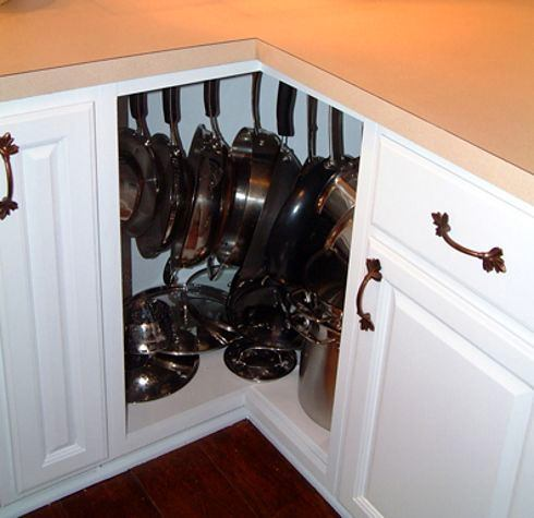 13-small-kitchen-storage-ideas-design-hacks-rational-space-corner-bottom-cabinet-keeping-pans-pots-on-hooks