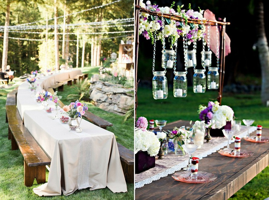 2-3-outdoor-wedding-in-the-garden-decoration-ideas-beautiful-decor-vintage-wooden-furniture-tables-benches-hanging-lanterns-candle-holders-flowers