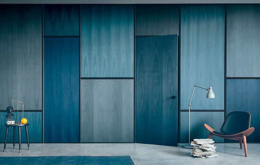 2-MDF-panels-boards-in-interior-design-wall-decoration-decor-blue-invisible-door-floor-lamp-arm-chair