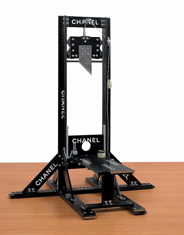 2-black-guillotine-dining-Table-by-Chanel-and-Tom-Sachs-dark-style-gothic-conceptual-furniture-design