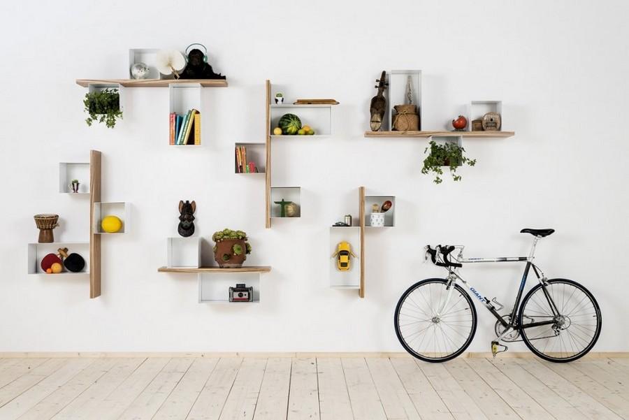 3-1-shelves-creative-shelving-units-geometrical-white-light-wood-Scandinavian-style-bicycle-whitewashed-floor
