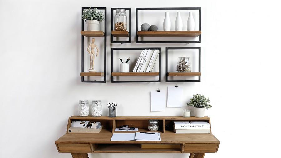 3-3-shelves-creative-shelving-units-geometrical-wooden-above-writing-desk
