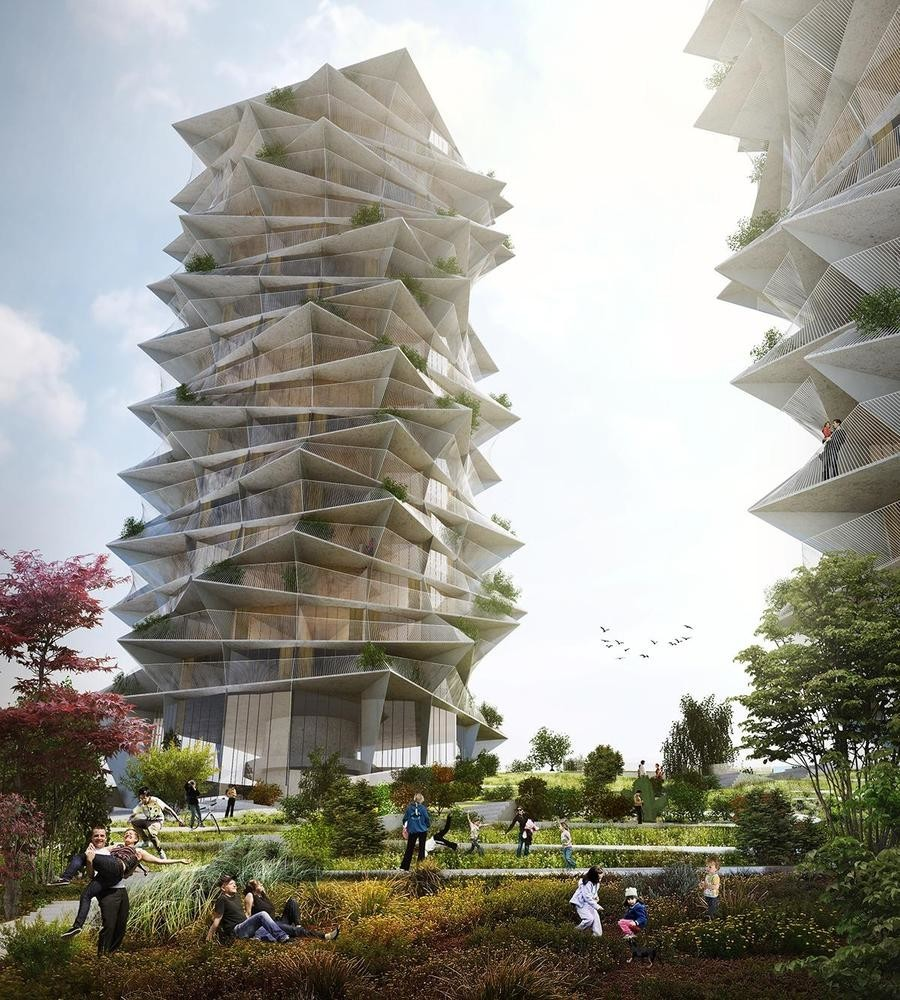 3-Cacti-Towers-project-3D-renders-in-Copenhagen-new-urban-IKEA-mall-hotel-Denmark-modern-architecture-unusual-buildings-hexagonal-balconies